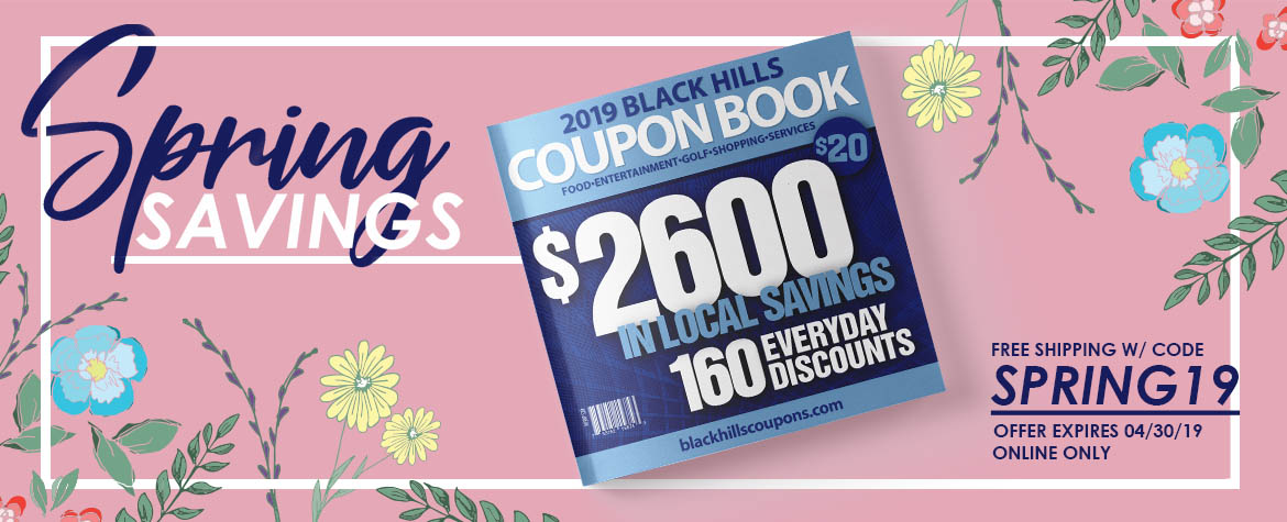 Black Hills Coupon Book Sale
